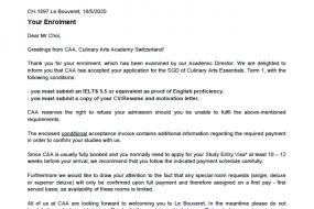 스위스요리학교 CAA 디플로마 과정 합격했어요!
